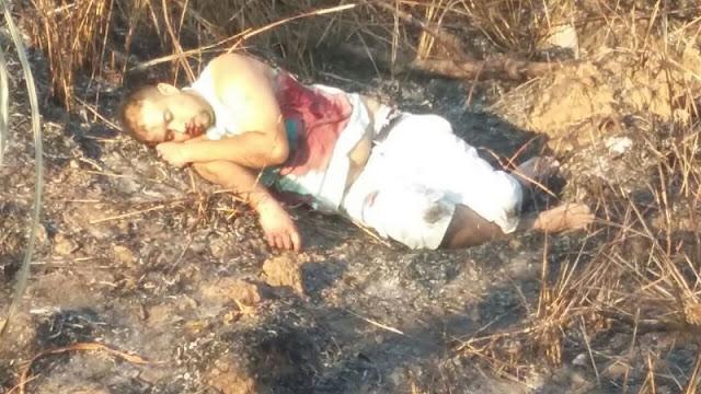 Em vídeo suspeito é pego após fuga e troca de tiros e levado vivo pela Polícia para matagal e logo surge morto