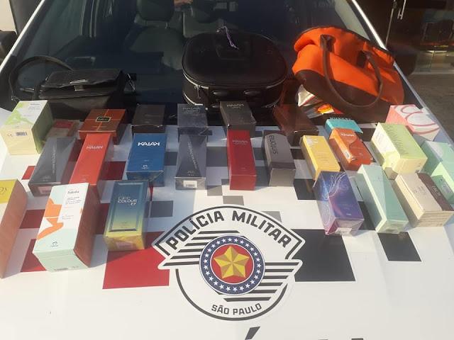 Com Apoio do Águia Policia Militar de Lucélia Recupera produtos furtados Aprende adolescente por furto e identifica comparsa maior de idade