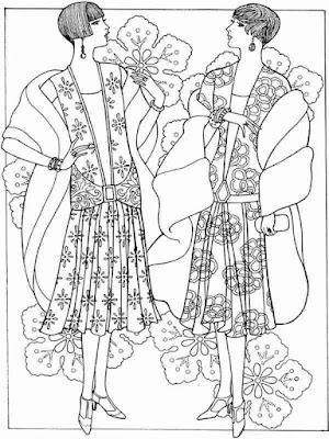 fashion of flower printable adult coloring pages