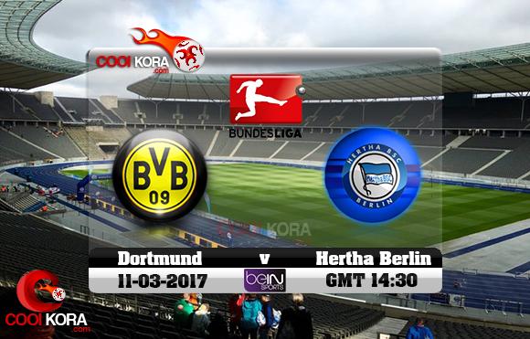 مشاهدة مباراة هيرتا برلين وبروسيا دورتموند اليوم 11-3-2017 في الدوري الألماني