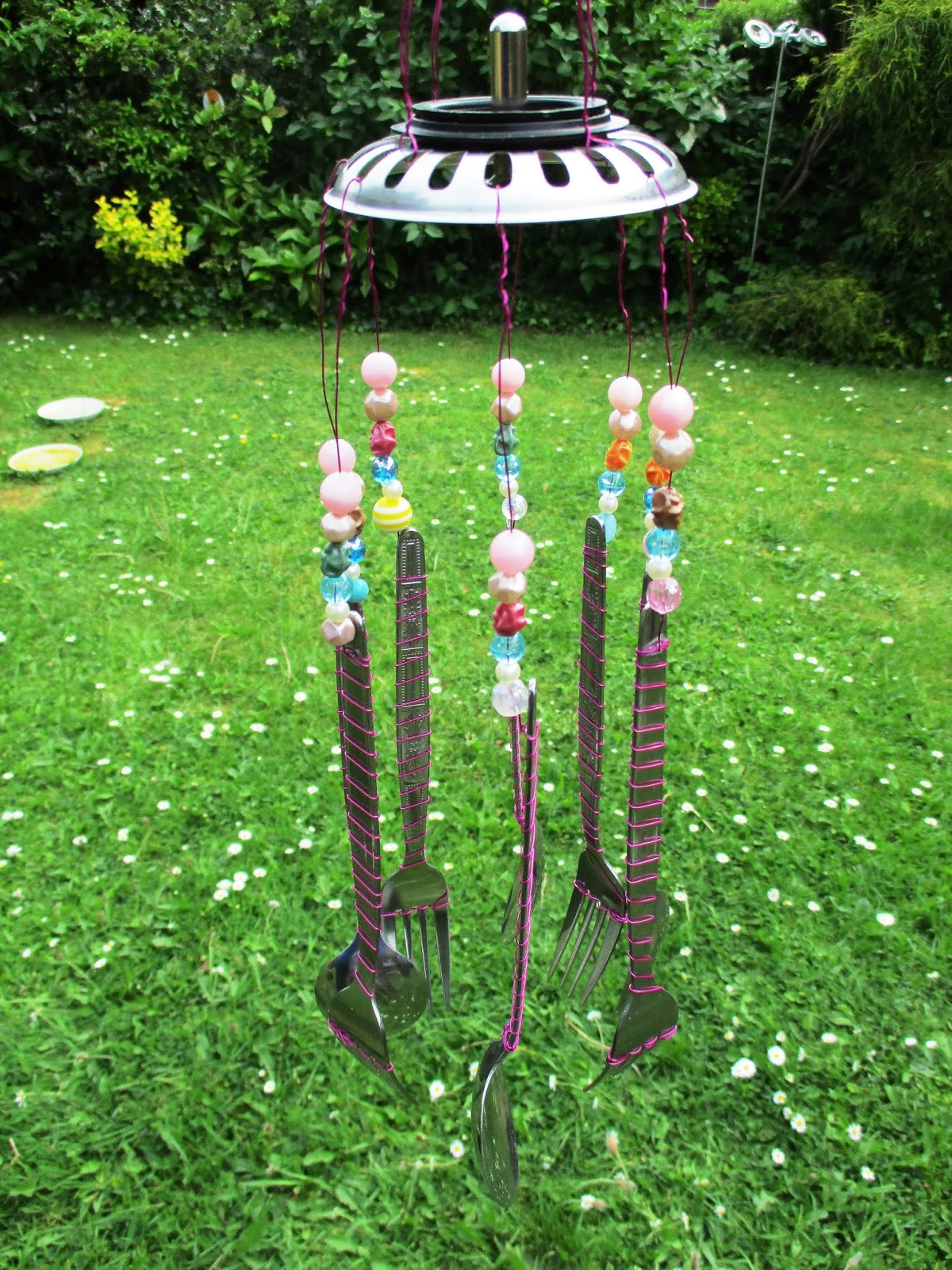 Life After Money Home Made Wind Chimes Wiring Near Me I Cant Do That Then Found One Wrapped Wire Around Them And Luckily Have Some Pink Was Given To For Christmas