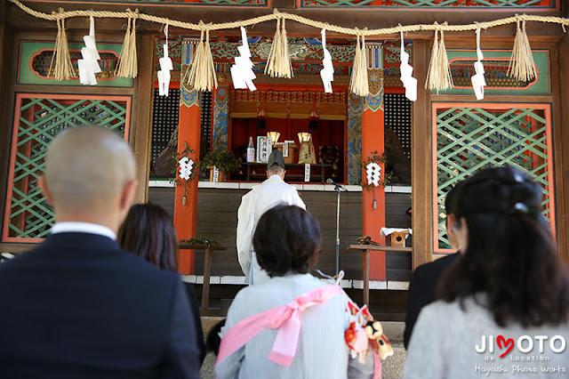 御香宮神社でお宮参り撮影