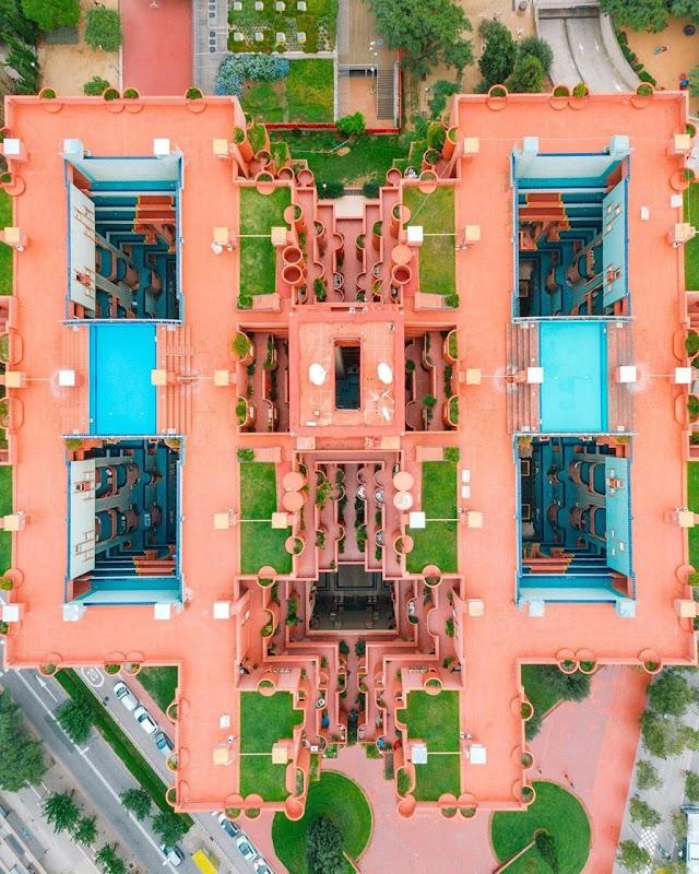 Fancy design of a famous European virtual living building