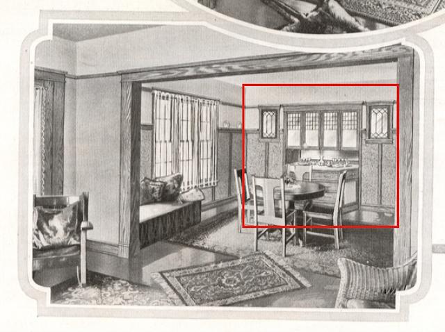 Sears Elmwood interior Dining Room 1918 catalog