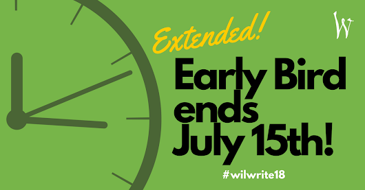 Early Bird Pricing for Willamette Writers Conference Ends July 15th