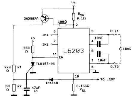 Protecting L6203 DMOS Full Bridge Driver from Short Circuit