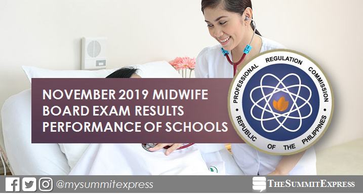November 2019 Midwife board exam result: performance of schools