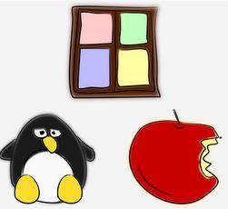 https://pixabay.com/vectors/apple-linux-mac-penguin-windows-158063/