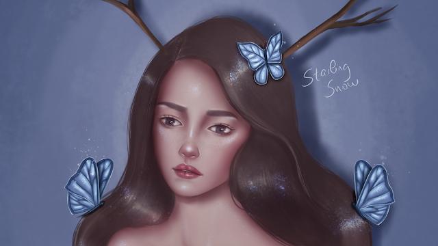 Feeling Blue - Digital Painting Art