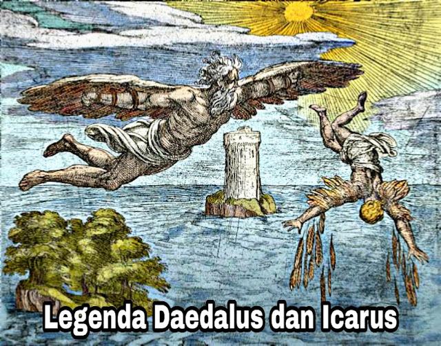 Legenda Daedalus dan Icarus - Asal Mula Nama Laut Icaria/Aegea (Yunani)