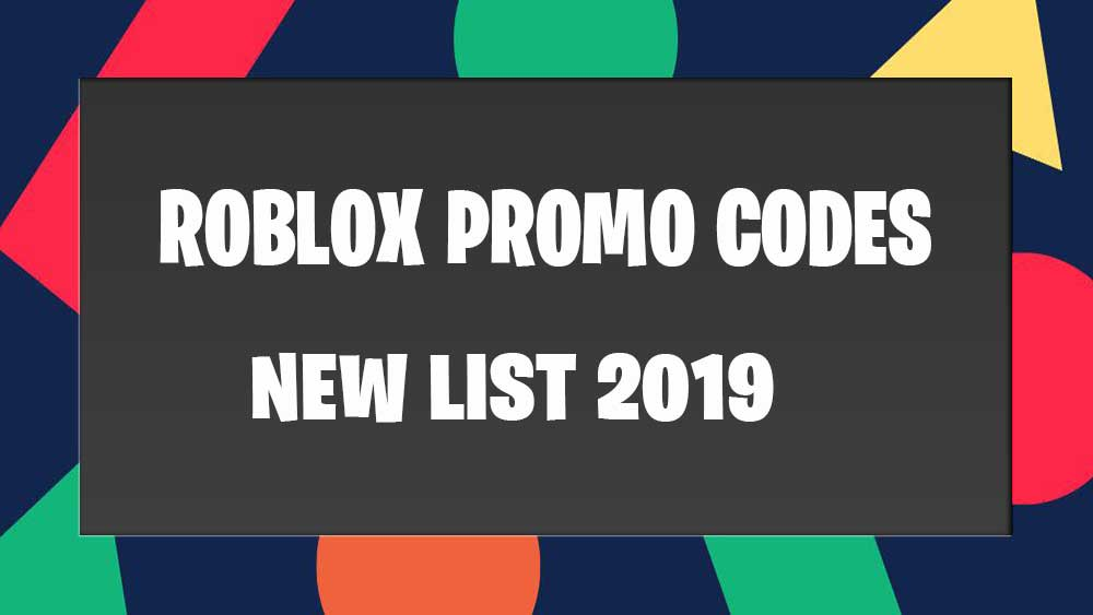 Roblox Promo Codes 2019 September - 100% Working