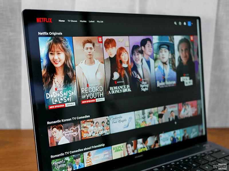 Netflix on the MateBook 14