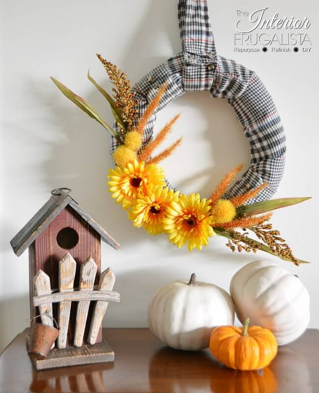 Flannel Shirt Fall Wreath