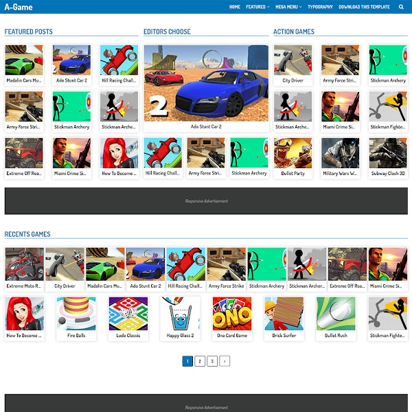 A-Game - Play Games Responsive Blogger Template