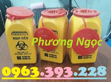 Hộp đựng vật sắc nhọn y tế 1.5 Lít, bình hủy kim tiêm y tế, bình đựng bơm tiêm H%25C4%2590KT1.5L4