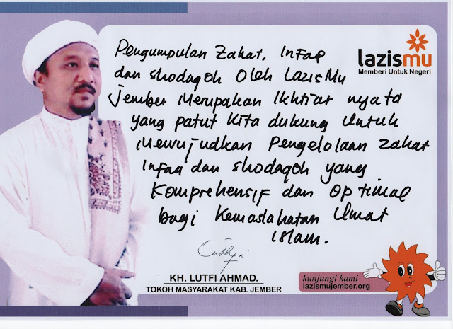 Statemen KH. Lutfi Ahmad untuk Lazismu Jember