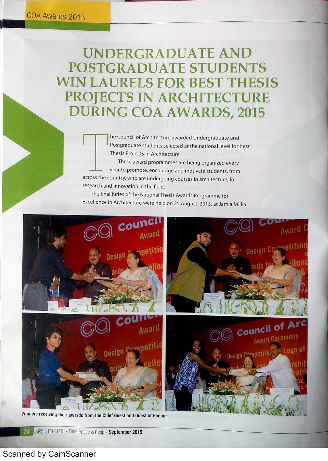 niasa thesis awards