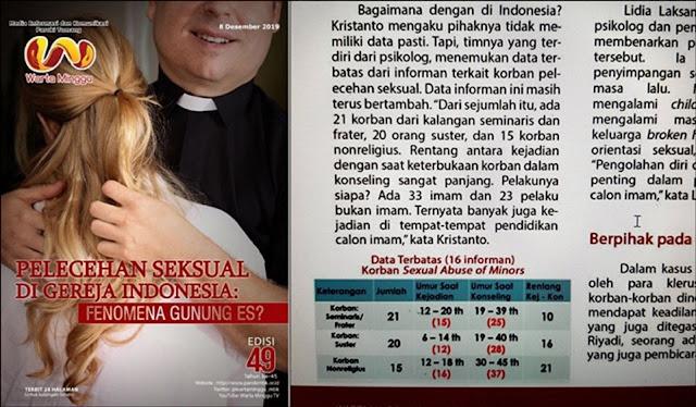 Laporan : Ada 56 Orang Korban Pelecehan di Gereja Katolik Di Seluruh Indonesia