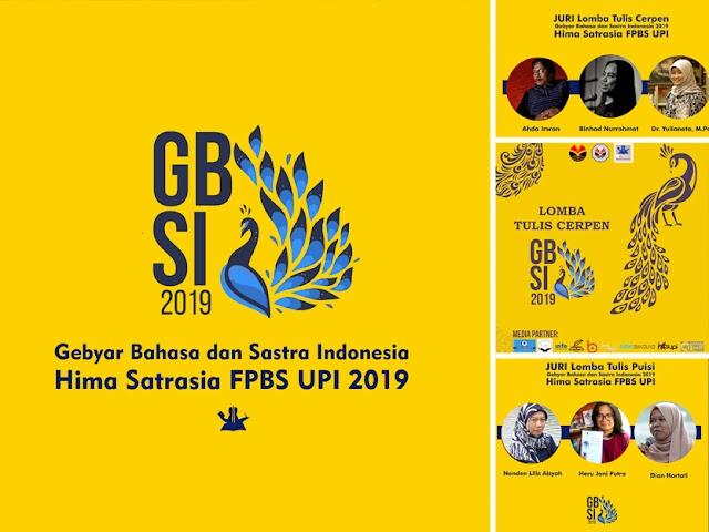 Hima Sastrasia FPBS UPI 2019 Gelar Gebyar Bahasa dan Sastra Indonesia (GBSI) 2019