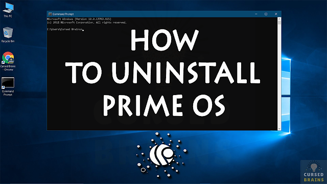 How To Uninstall Prime OS  | Dual Boot Windows | Remove Prime Operating System Command Prompt