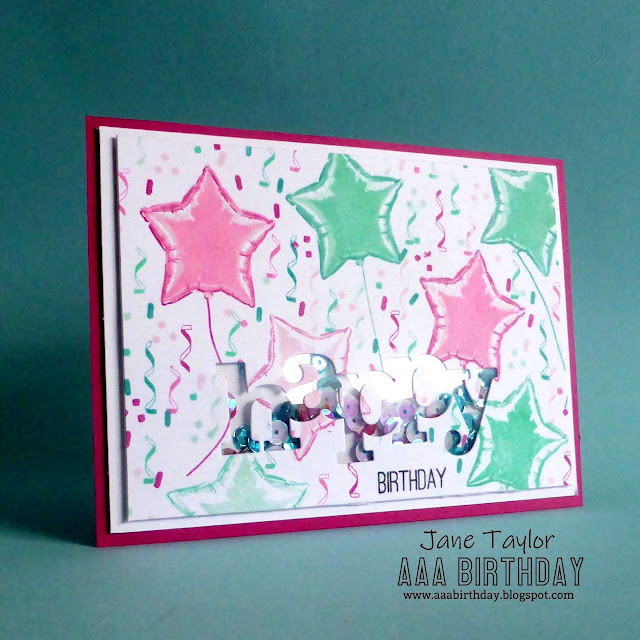 Sunny Studio Stamps: Bold Balloons Customer Card by Jane Taylor