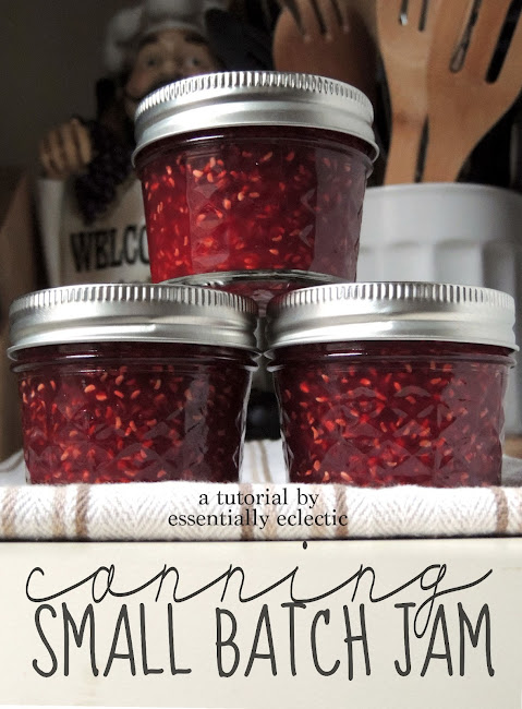 canning raspberry jam, canned jam