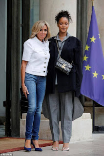 France First Lady Brigitte macron and Rihanna