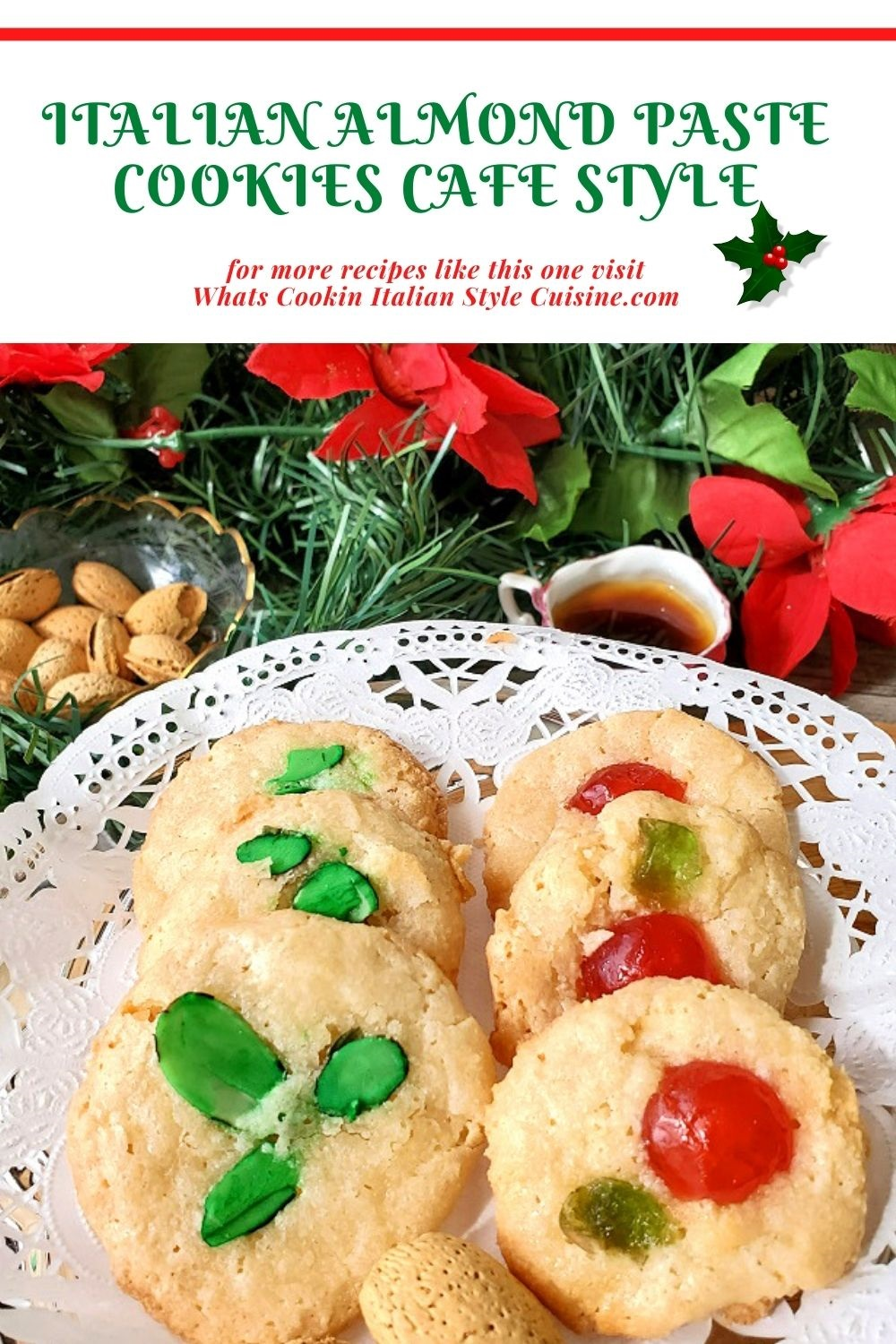 these are Italian Almond Paste cookies pin for later recipe