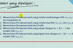 Latihan Soal PGL Part 3. Menentukan Persamaan Garis