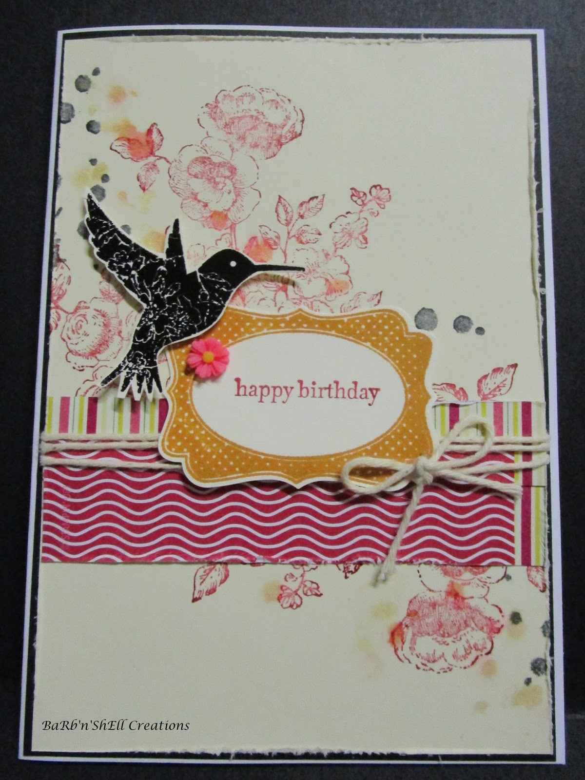 Barbnshell creations birthday collage cards the stamps used for the above card stampin ups elements of style teeny tiny sentiments perpetual birthday calendar four frames and punch to suit m4hsunfo
