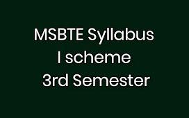 MSBTE SYLLABUS I SCHEME 3RD SEM