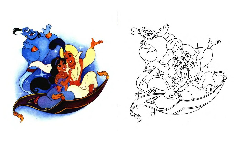 Онлайн раскраски для детей: Герои зарубежных сказок