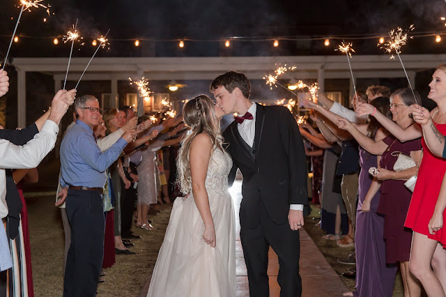Shenandoah Mill in Gilbert AZ Wedding Photo of the sparkler exit by Micah Carling Photography