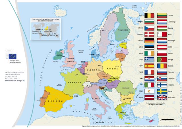 Resultado de imagen de union europea paises