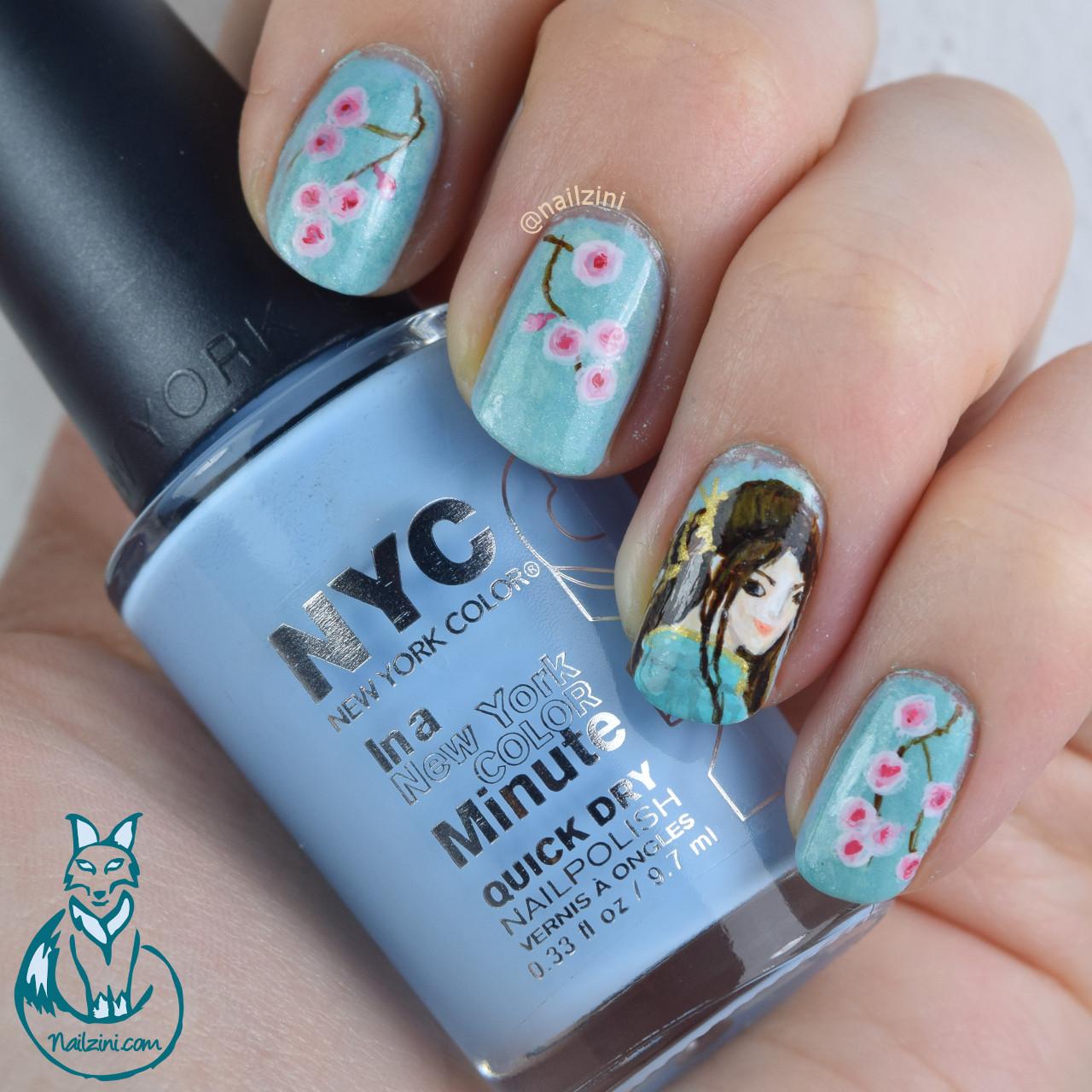 Japanese Cherry Blossom Nail Art | Nailzini: A Nail Art Blog