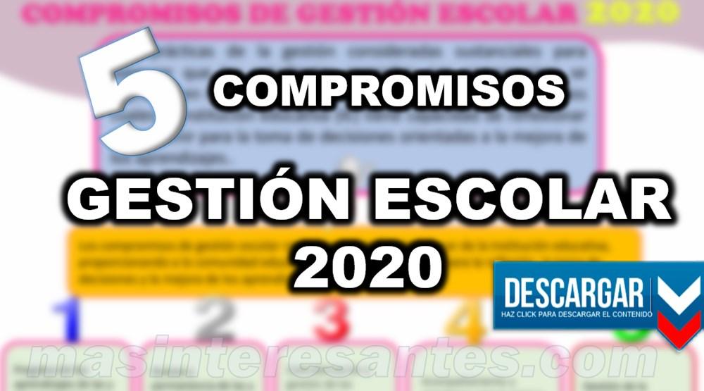 Compromisos de Gestión Escolar 2020 MINEDU