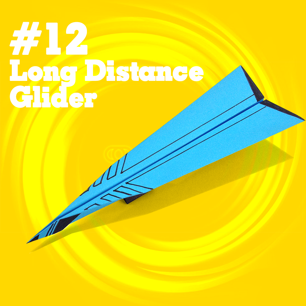How to make a easy paper airplane glider that FLY FAR #12