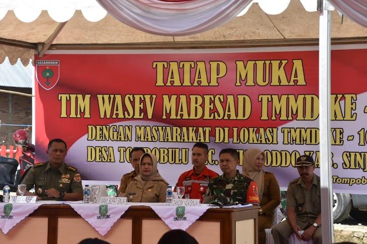 Tim Wasev Mabesad Tatap Muka Dengan Warga Di Lokasi TMMD 105  Kodim 1424/Sinjai