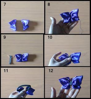 Gambar tutorial ikat rambut cantik bentuk kupu-kupu part 2