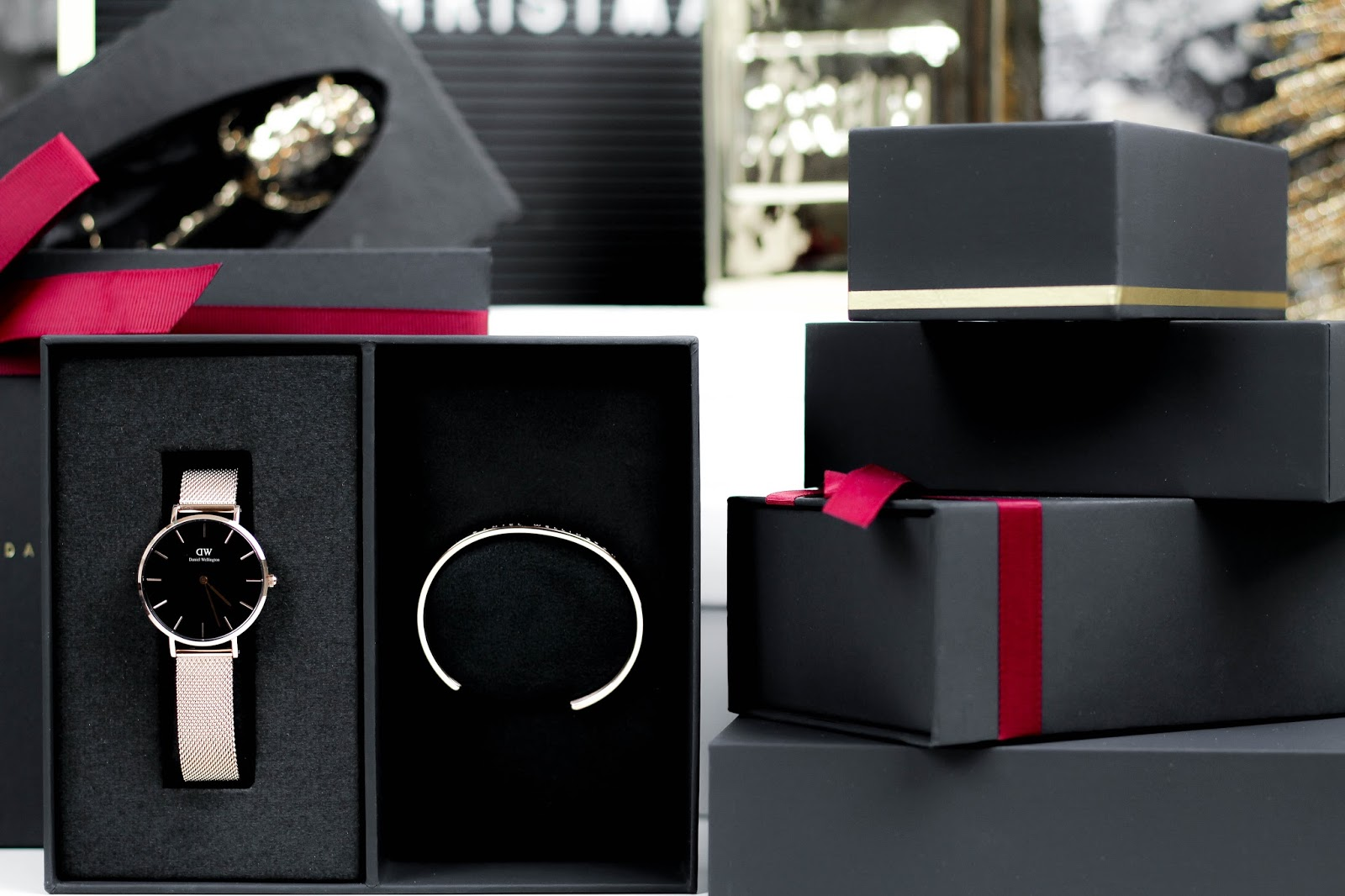 Daniel Wellington Metal Strap Holiday Gift Set