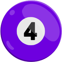 four of solids pool ball