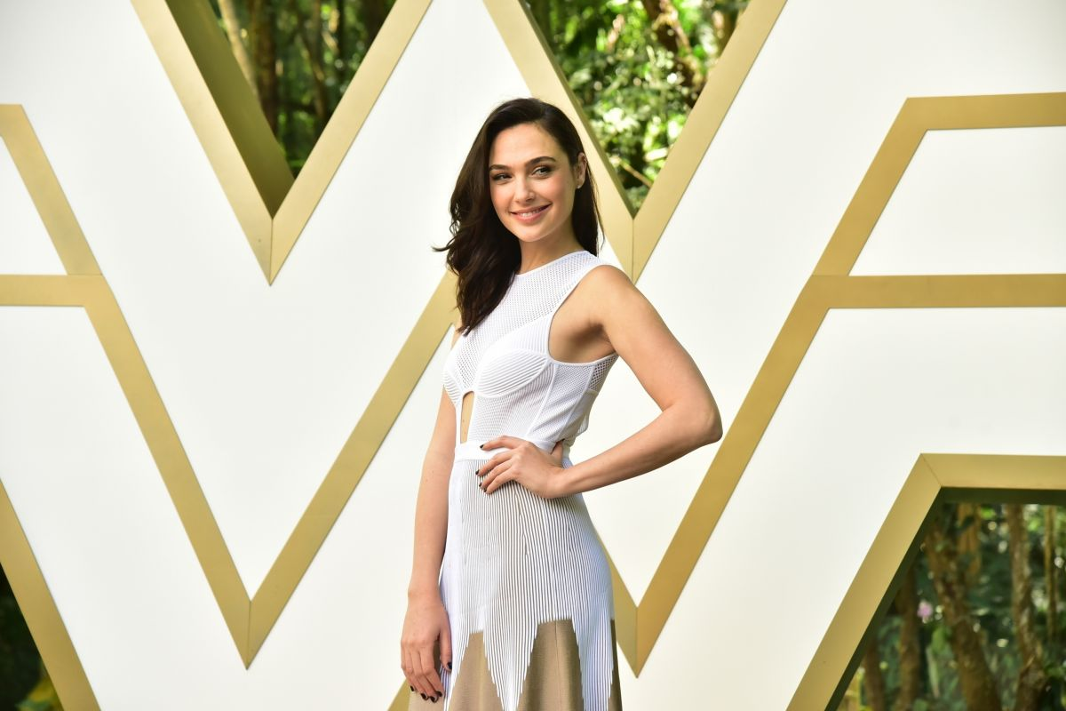 Gal Gadot shows off her edgy sense of style in underwired dress with racy cut-outs as she attends Wonder Woman photocall in São Paulo