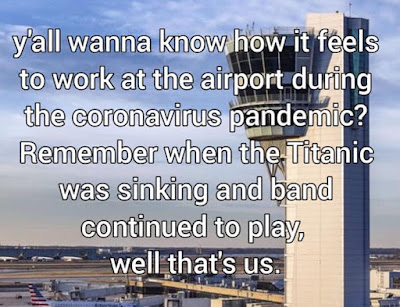 wanna know how it feels to work at the airport during the coronavirus pandemic