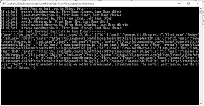 Hasil parsing json ke object class