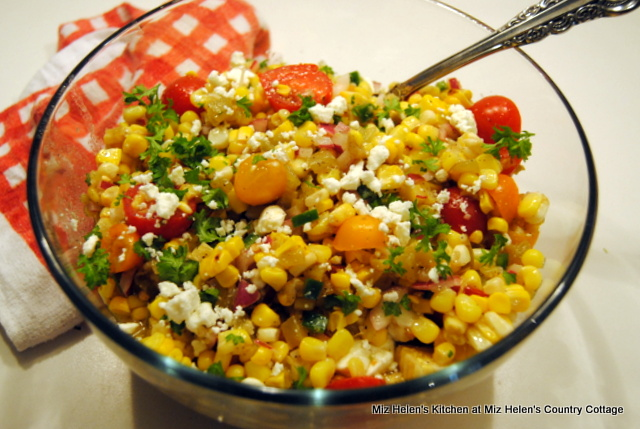 Roasted Corn,Chilies and Peppers at Miz Helen's Country Cottage
