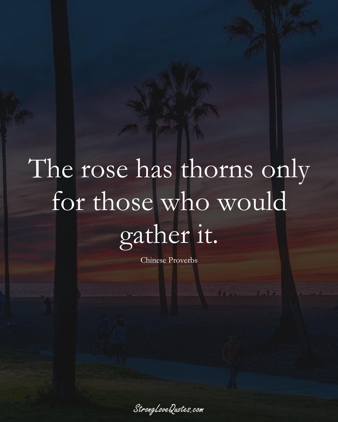 The rose has thorns only for those who would gather it. (Chinese Sayings);  #AsianSayings