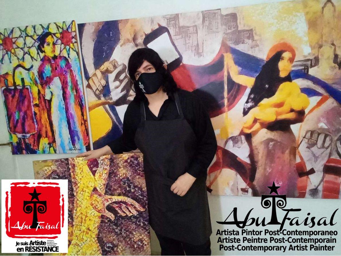 Artworks of Abu Faisal Sergio Tapia Post-Contemporary Artist Painter in Resistance - Artiste peintre