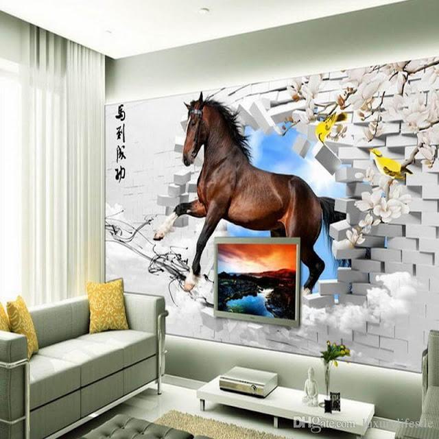 tranh tường phòng khách bình dương mã đáo thành công