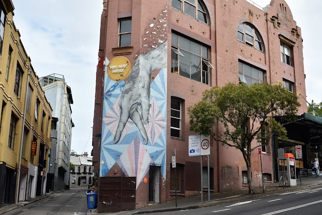 Street Art in Darlinghurst by Sarah Howell, Dylan Demarchi, Byrd, The Dirt & Gui Andrade
