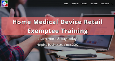California HMDR Exemptee Online Training Certification Class. Earns a course completion certificate accepted by the California Department of Public Health (Food and Drug Branch). For home medical device retailers.
